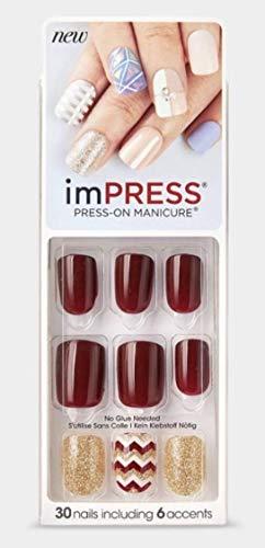Kiss imPress Press-On Manicure Short Length Nails BIPA010 / 62302 Symphony