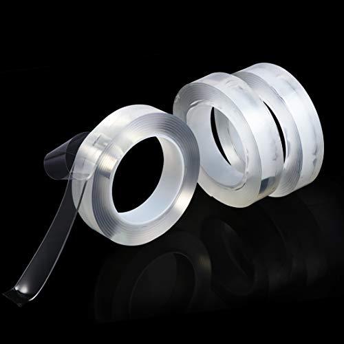 Hotyin acryl dubbelzijdig tape, duidelijke verwijderbare montage tape waterdicht super sterk taaie verlijming sterkte lijm voor thuis kamer buiten en muur kunst etc. 1-inch*3 Tape
