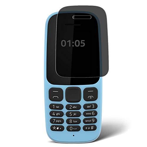 Vaxson Protector de Pantalla de Privacidad, compatible con Nokia 105 2017 [no vidrio templado] TPU Película Protectora Anti Espía