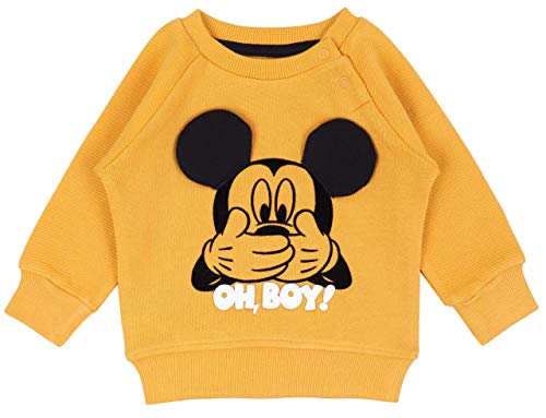 Sweat-Shirt Moutarde Mickey Mouse Disney 9-12 Mois