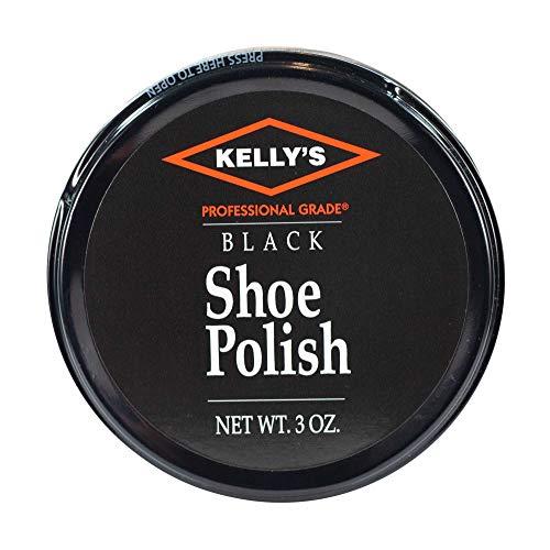 Kelly's Professional Paste Wax Shoe Polish Black 3oz