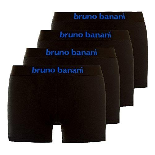 bruno banani Herren Retro Boxershorts Contest (4er Pack) Schwarz / Blau Large