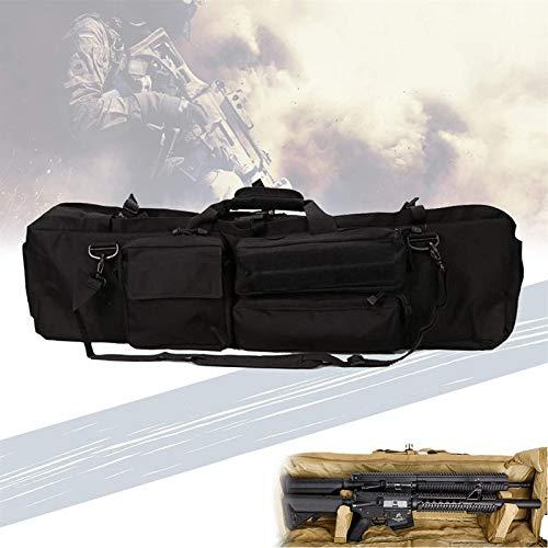 HNWTKJ Bolsa De Rifle De Alimentación, Bolso De Armas De Arma con Almohada De Pedestal, Tela Impermeable, Capacidad para Dos Rifles, Bolso De Armas Diagonales con Un Hombro para La Caza