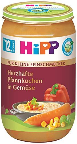HiPP Bio Für kleine Feinschmecker Menüs Herzhafte Pfannkuchen in Gemüse, 6er Pack (6 x 250 g)