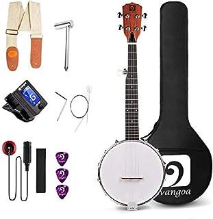 Vangoa 5 String Banjo MINI, 26 Inch Travel Banjo with beginner Kit, Tuner, Strap, Pick-up, Extra Strings, Picks Allen Key,...