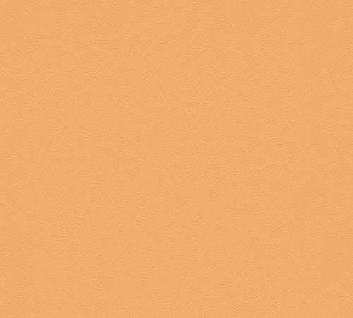 A.S. Création Meisterintissé 5 3095-87 Papier peint intissé Uni 10,05 m x 0,53 m Orange Fabriqué en Allemagne