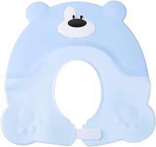 Cabilock Baby Shampoo Shower Cap Hat Soft Cartoon Bear Adjustable Bathing Ear Protector Hat for Kids Children (Blue)