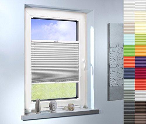Sun World Plissee nach Maß, hochqualitative Wertarbeit, für Fenster und Türen, alle Größen, Maßanfertigung, Jalousie, Faltrollo (Farbe: Off White, Höhe: 91-100cm, Breite: 71-80cm)