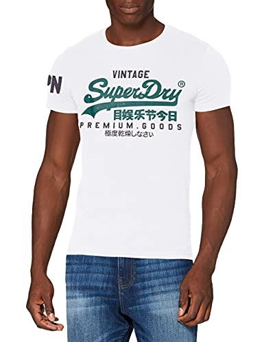 Superdry VL NS tee Camiseta, Óptica, M para Hombre