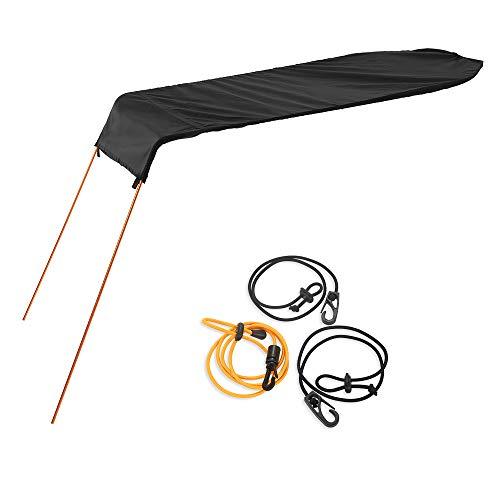 Diseñado para kayak individual. Se conecta a su kayak y lo protege de las quemaduras solares. Ofertas aprox. 8 pies cuadrados de cobertura. Hecho de tela de malla ripstop y varilla de aluminio de cordón de choque. Pliegues compactos y livianos, cómod...