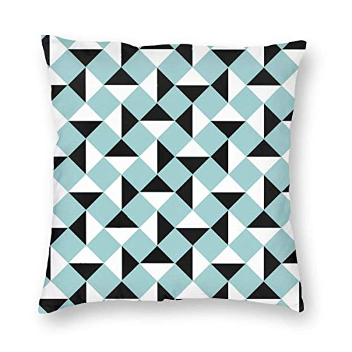 Square Throw Pillow Covers Triangle Geometric Pillow Cases Sofa Home Invisible Zipper