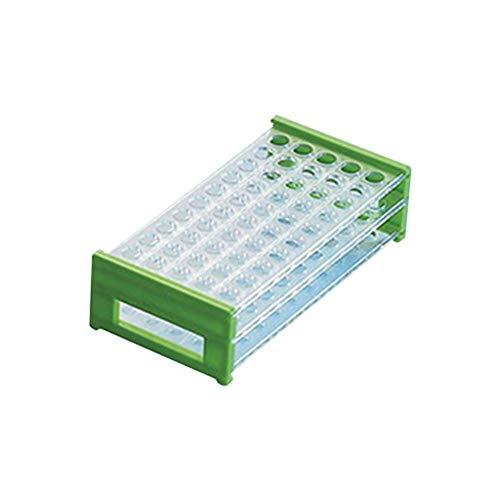 Tansoole - Kunstoff Reagenzglasständer Reagenzglashalter Labor-Gefäßständer, 50-Loch Ø13mm,Zufällige Farbe