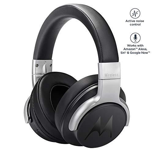 Motorola Escape 500 ANC | kabelloser Kopfhörer mit Active Noise Cancelling | 12Std. | Alexa, Siri und Google | Schwarz