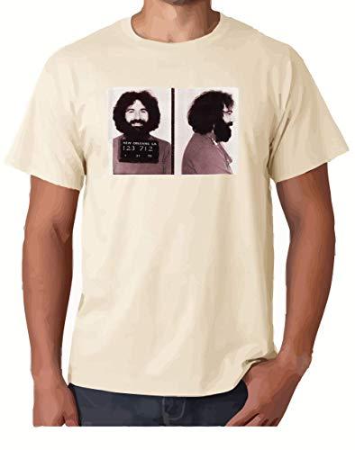 ZJ Designs Jerry Garcia Mugshot T-Shirt Grateful Busted on Bourbon Street