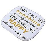 Lumanuby. 1x Machinewaschbar Sitzkissen Dünn aus Flannel mit Wort Als 'You're My Sunshine, You Make...