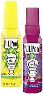 Air Wick V.I.Poo Pre-Poo Spray para inodoro, paquete doble,