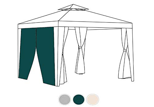 Gardenista Replacement Gazebo Curtain | Outdoor Summer furniture | Water Resistant | Great for Sun Shade | Durable & High Quality (Curtain Door, Green)