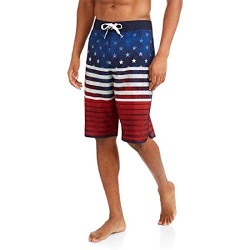 OP Men's Patriotic Fixed Waist America Board Shorts (42)
