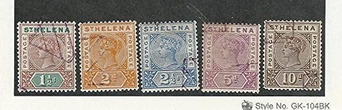 St. Helena, Postage Stamp, 42-46 Used, 1890-97