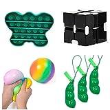 Fidget Toys Set barato Juguetes sensoriales de agua dulce Set 6 piezas para niños y adultos Herramientas anti-ansiedad Juguetes especiales Surtido para regalos de fiesta de cumpleaños