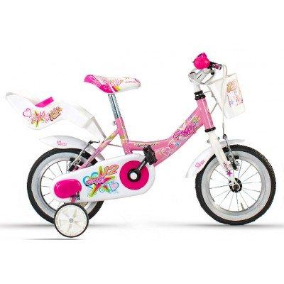Lombardo Bicicletta Bambina 12' Baffy 12 Pink/White Glossy