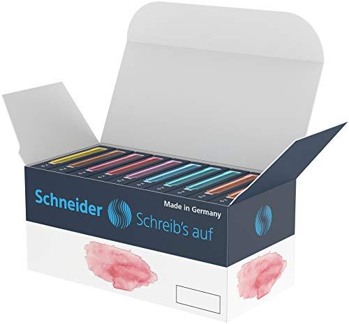 Schneider Pastell Tintenpatrone (Standard Patronen für Füller) sortiert, 10x6 Stück