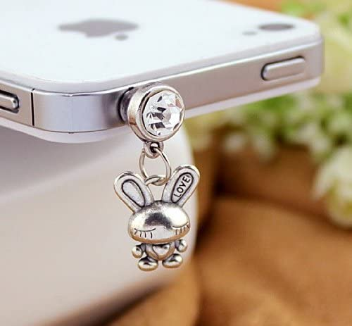 2021 autumn and winter new Dust Plug-earphone Jack Accessories Silver Retro SEAL limited product Crystal Lovely