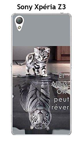 Coque Sony Xperia Z3 design Chat Tigre Blanc Et Alors !