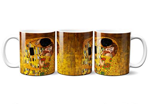 Planetacase Taza Desayuno Gustav Klimt El Beso Ceramica 330 mL