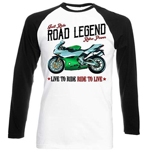 Teesandengines Benelli 900 Tornado Camiseta de Mangas Negra largas T-Shirt Size Xxlarge