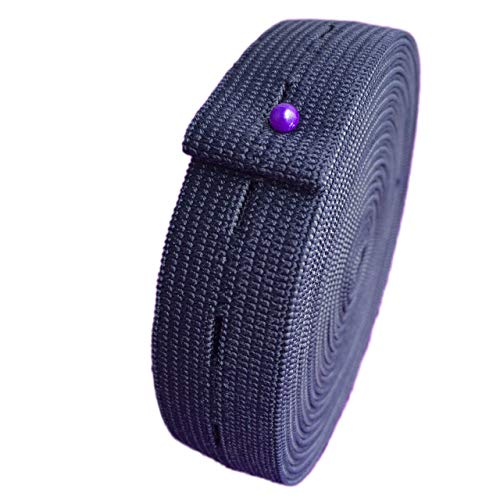 3/4' Inch x 5 Yards Buttonhole Sewing Elastic Bands - Button Hole Flat Elastic Bands Spool Knit for DIY Pants Waist Waistband Adjustable Craft Sewing Garment (Navy Blue)