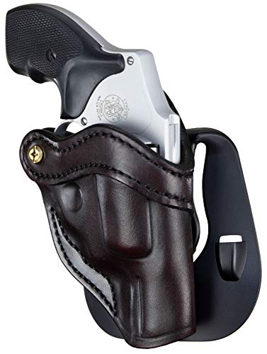 1791 Gunleather J-Frame Revolver Paddle Holster - OWB CCW Holster - Right Handed Leather Gun Holster for Belts - Fits All J-Frame Revolvers Including S&W and Ruger LCR not Taurus
