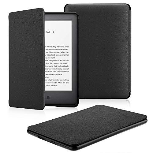 OMOTON Kindle hülle für der Neue Kindle (10.Generation–2019), Schlanke & leicht, PU-Leder Hülle, mit Auto Sleep/Wake Funktion, schwarz