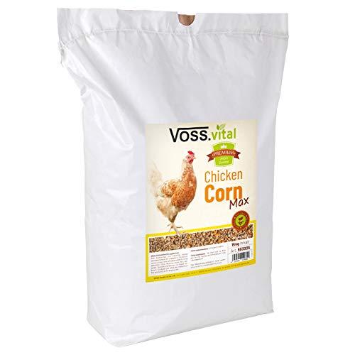 VOSS.vital 15kg Chickencorn MAX Hühnerfutter Futter Huhn Geflügelfutter mit Legepellets und Muschelgrit