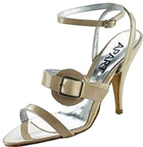 Sandalette von Apart Lackleder in Nude Gr. 40