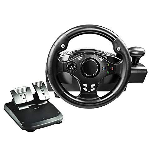 HALASHAO Xbox One Volante y Pedales, Conductor Simulación PS4 / Xbox One/Android Box/Juego Volante Consola