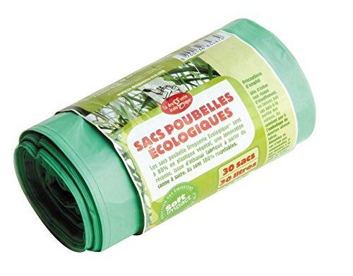 La Droguerie Ecologique Rouleau 30 Sacs Poubelle Éco-Plastiques 30 L