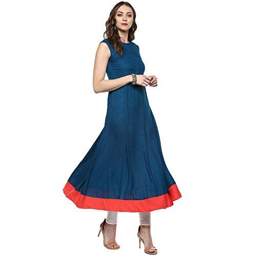 Indian Virasat Women's Cotton Full Length Anarkali Kurta (