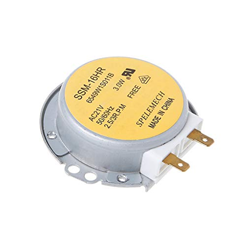Gwxevce Horno de microondas Placa giratoria Motor síncrono SSM-16HR 21V 3W 50 / 60Hz para