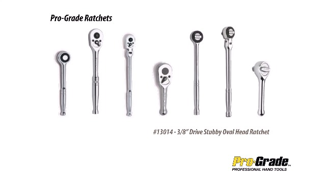 Pro-Grade 13020 3//8-Inch Drive with 11-Inch Quick Release Round Head Flex Ratchet