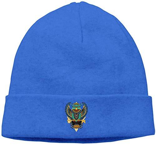 iuitt7rtree Dicke Wollmütze für Herren und Damen, albanische Flagge Beanie Hut