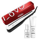L'Oréal Pro Steampod 3.0 - Plancha alisadora + crema gruesa 150 ml + sérum 50 ml + estuche Transport Love