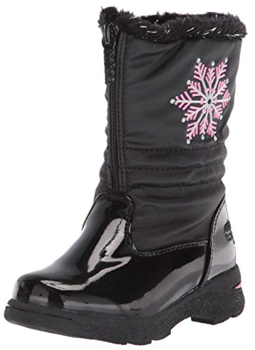 totes Girl's Vannessa Snow Boot, Black, 3 Big Kid