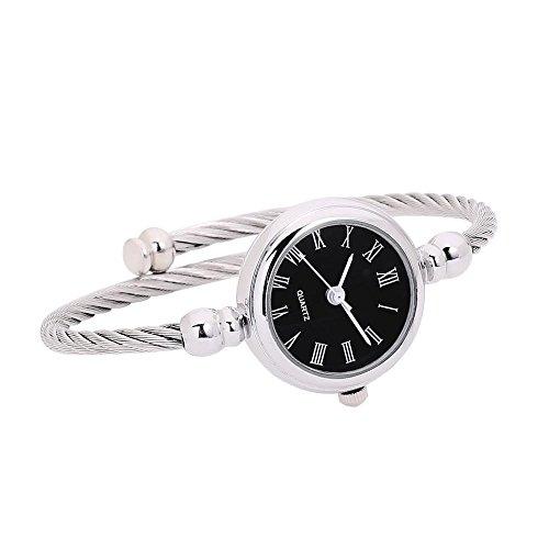Kanlin1986 Relojes Mujeres Glass Mirror Bracelet Watch Girl Reloj De Cuarzo AnalóGico Circular