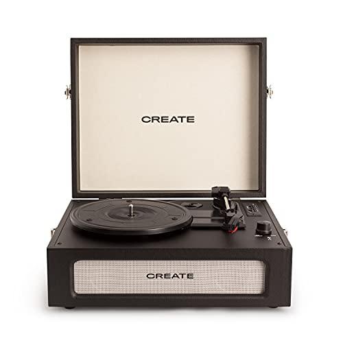 CREATE Record Player Compact - Tocadiscos Plato giradiscos, Plato Vinilo, Retro con...