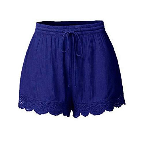 U/A Verano Pantalones Cortos De Las Mujeres De Gran Tamaño Pantalones Cortos De Las Señoras Casual Más El Tamaño De Encaje Cortos Femeninos De