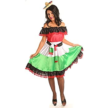 Disiao Sassy Mexican Style Costume Dress for Women Halloween Christmas Party