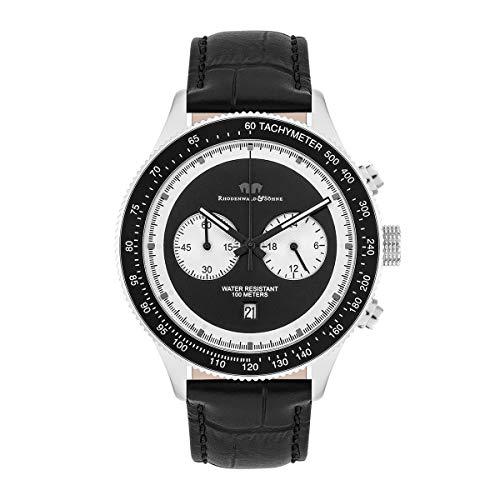 Rhodenwald & Söhne Reloj para Hombre análoga Japón Mecanismo de Cuarzo con Correa de Cuero Real 10010327