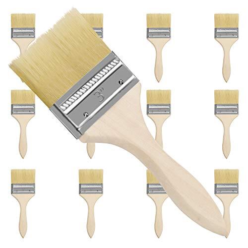 """Farbpinsel (12er Set) -Acrylpinsel Set Pinsel zum Streichen und Lackieren Größe 7,6cm (3"""") - Ideal für Wand- und Holz Farbe zum Beizen, für Leim und Gesso-Grundierungen - Pinsel zum Malen"""