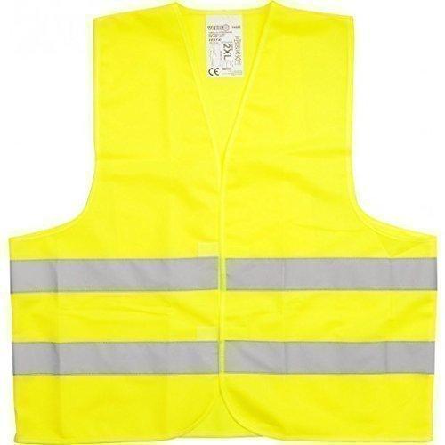Veiligheidsvest DIN EN471 geel oranje L XL XXL XXXL pannenongelukken auto (XXL geel, 1 vest)